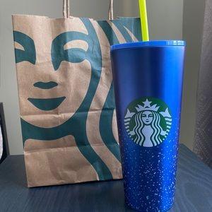 Starbucks blue speckled